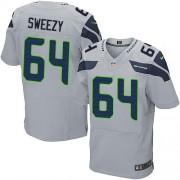 NFL J.R. Sweezy Seattle Seahawks Elite Alternate Nike Jersey - Grey