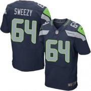 NFL J.R. Sweezy Seattle Seahawks Elite Team Color Home Nike Jersey - Navy Blue