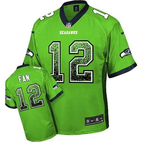 NFL 12th Fan Seattle Seahawks Elite Drift Fashion Nike Jersey - Green
