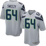 NFL J.R. Sweezy Seattle Seahawks Game Alternate Nike Jersey - Grey