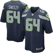 NFL J.R. Sweezy Seattle Seahawks Game Team Color Home Nike Jersey - Navy Blue
