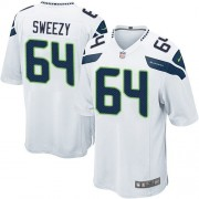 NFL J.R. Sweezy Seattle Seahawks Game Road Nike Jersey - White