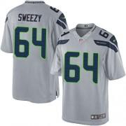 NFL J.R. Sweezy Seattle Seahawks Limited Alternate Nike Jersey - Grey