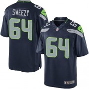NFL J.R. Sweezy Seattle Seahawks Limited Team Color Home Nike Jersey - Navy Blue