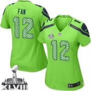 NFL 12th Fan Seattle Seahawks Women's Elite Alternate Super Bowl XLVIII Nike Jersey - Green