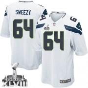 NFL J.R. Sweezy Seattle Seahawks Limited Road Super Bowl XLVIII Nike Jersey - White