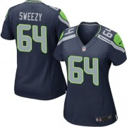 NFL J.R. Sweezy Seattle Seahawks Women's Game Team Color Home Nike Jersey - Navy Blue