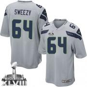 NFL J.R. Sweezy Seattle Seahawks Youth Elite Alternate Super Bowl XLVIII Nike Jersey - Grey