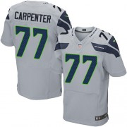 NFL James Carpenter Seattle Seahawks Elite Alternate Nike Jersey - Grey