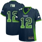 NFL 12th Fan Seattle Seahawks Women's Elite Drift Fashion Nike Jersey - Navy Blue