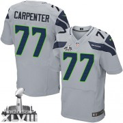 NFL James Carpenter Seattle Seahawks Elite Alternate Super Bowl XLVIII Nike Jersey - Grey