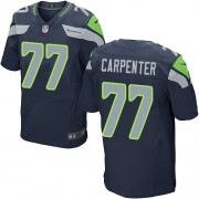 NFL James Carpenter Seattle Seahawks Elite Team Color Home Nike Jersey - Navy Blue