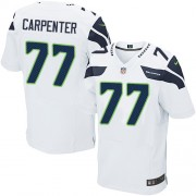 NFL James Carpenter Seattle Seahawks Elite Road Nike Jersey - White