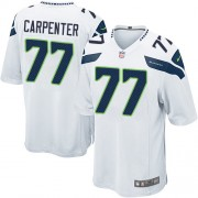 NFL James Carpenter Seattle Seahawks Game Road Nike Jersey - White