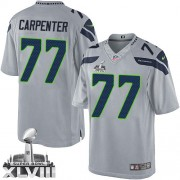 NFL James Carpenter Seattle Seahawks Limited Alternate Super Bowl XLVIII Nike Jersey - Grey