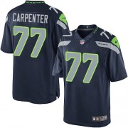 NFL James Carpenter Seattle Seahawks Limited Team Color Home Nike Jersey - Navy Blue