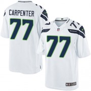 NFL James Carpenter Seattle Seahawks Limited Road Nike Jersey - White