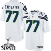 NFL James Carpenter Seattle Seahawks Limited Road Super Bowl XLVIII Nike Jersey - White