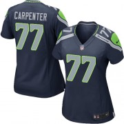 NFL James Carpenter Seattle Seahawks Women's Game Team Color Home Nike Jersey - Navy Blue