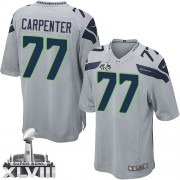 NFL James Carpenter Seattle Seahawks Youth Elite Alternate Super Bowl XLVIII Nike Jersey - Grey