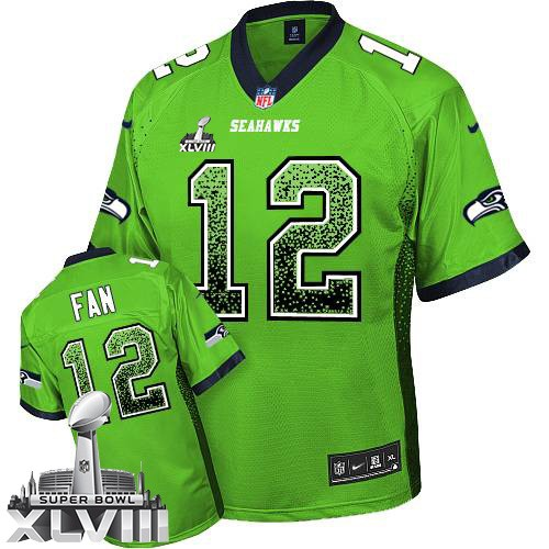 NFL 12th Fan Seattle Seahawks Elite Drift Fashion Super Bowl XLVIII Nike Jersey - Green