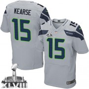 NFL Jermaine Kearse Seattle Seahawks Elite Alternate Super Bowl XLVIII Nike Jersey - Grey