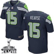 NFL Jermaine Kearse Seattle Seahawks Elite Team Color Home Super Bowl XLVIII Nike Jersey - Navy Blue