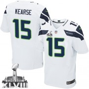 NFL Jermaine Kearse Seattle Seahawks Elite Road Super Bowl XLVIII Nike Jersey - White
