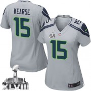 NFL Jermaine Kearse Seattle Seahawks Women's Elite Alternate Super Bowl XLVIII Nike Jersey - Grey