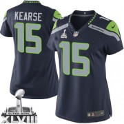 NFL Jermaine Kearse Seattle Seahawks Women's Elite Team Color Home Super Bowl XLVIII Nike Jersey - Navy Blue
