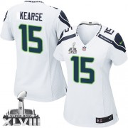 NFL Jermaine Kearse Seattle Seahawks Women's Elite Road Super Bowl XLVIII Nike Jersey - White