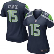 NFL Jermaine Kearse Seattle Seahawks Women's Game Team Color Home Nike Jersey - Navy Blue