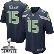 NFL Jermaine Kearse Seattle Seahawks Youth Elite Team Color Home Super Bowl XLVIII Nike Jersey - Navy Blue