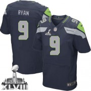 NFL Jon Ryan Seattle Seahawks Elite Team Color Home Super Bowl XLVIII Nike Jersey - Navy Blue