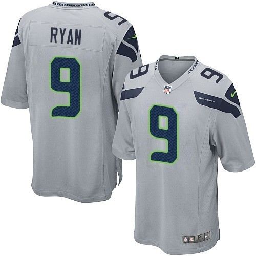 NFL Jon Ryan Seattle Seahawks Game Alternate Nike Jersey - Grey