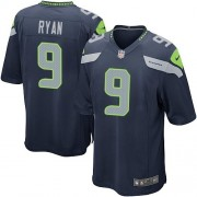 NFL Jon Ryan Seattle Seahawks Game Team Color Home Nike Jersey - Navy Blue