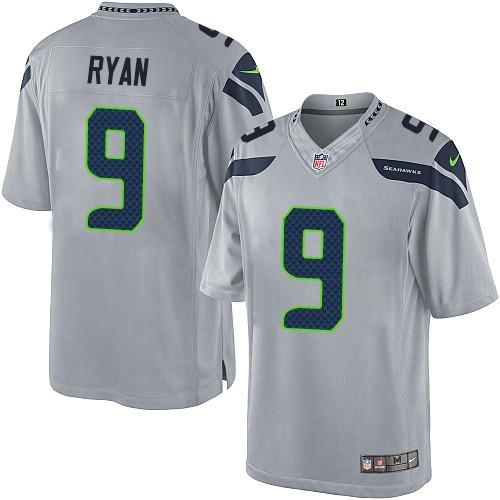 NFL Jon Ryan Seattle Seahawks Limited Alternate Nike Jersey - Grey