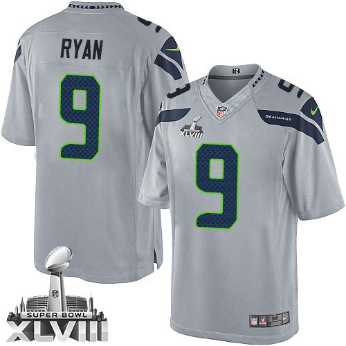 NFL Jon Ryan Seattle Seahawks Limited Alternate Super Bowl XLVIII Nike Jersey - Grey