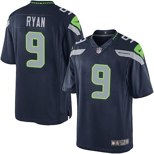 NFL Jon Ryan Seattle Seahawks Limited Team Color Home Nike Jersey - Navy Blue