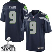NFL Jon Ryan Seattle Seahawks Limited Team Color Home Super Bowl XLVIII Nike Jersey - Navy Blue