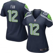 NFL 12th Fan Seattle Seahawks Women's Game Team Color Home Nike Jersey - Navy Blue