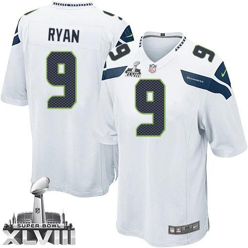 NFL Jon Ryan Seattle Seahawks Limited Road Super Bowl XLVIII Nike Jersey -  White ddc3508f2
