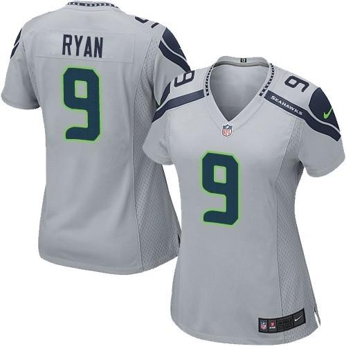 NFL Jon Ryan Seattle Seahawks Women's Elite Alternate Nike Jersey - Grey