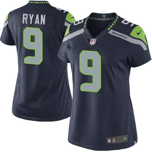 NFL Jon Ryan Seattle Seahawks Women's Elite Team Color Home Nike Jersey - Navy Blue