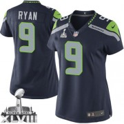 NFL Jon Ryan Seattle Seahawks Women's Elite Team Color Home Super Bowl XLVIII Nike Jersey - Navy Blue