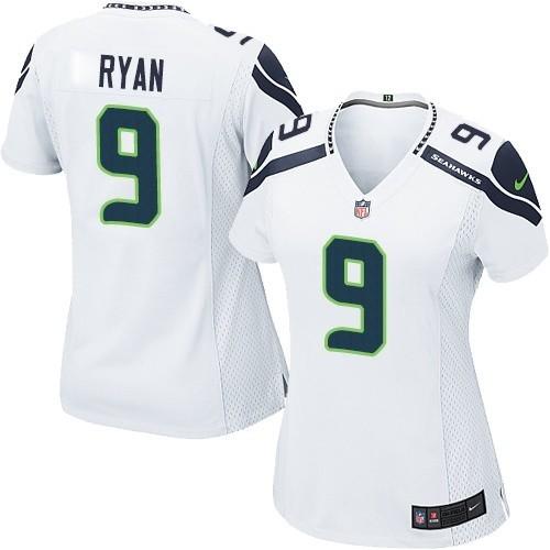 NFL Jon Ryan Seattle Seahawks Women's Elite Road Nike Jersey - White