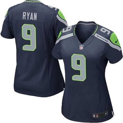 NFL Jon Ryan Seattle Seahawks Women's Game Team Color Home Nike Jersey - Navy Blue