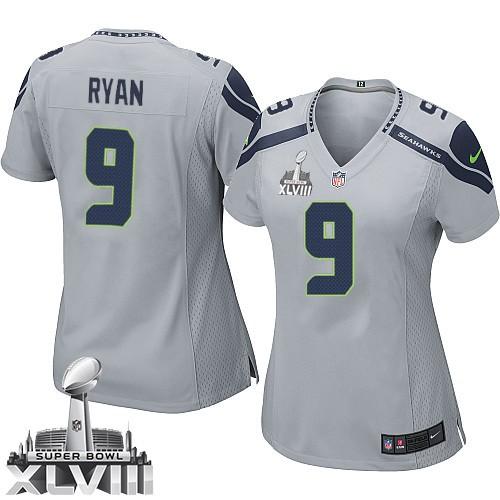 NFL Jon Ryan Seattle Seahawks Women's Limited Alternate Super Bowl XLVIII Nike Jersey - Grey