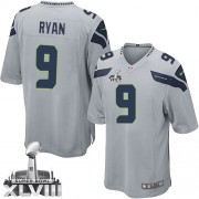 NFL Jon Ryan Seattle Seahawks Youth Elite Alternate Super Bowl XLVIII Nike Jersey - Grey