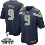 NFL Jon Ryan Seattle Seahawks Youth Elite Team Color Home Super Bowl XLVIII Nike Jersey - Navy Blue